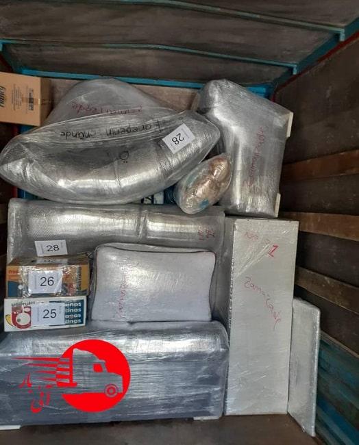 بسته بندی بار جهت ارسال به استانبول