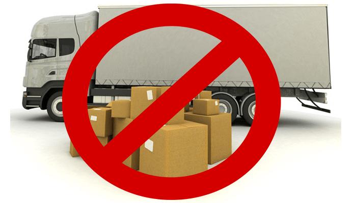 موارد ممنوعه در ارسال اثاث به استانبول