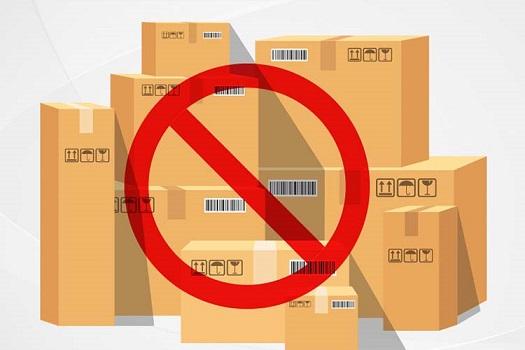 کالاهای ممنوعه در ارسال بار به مرسین